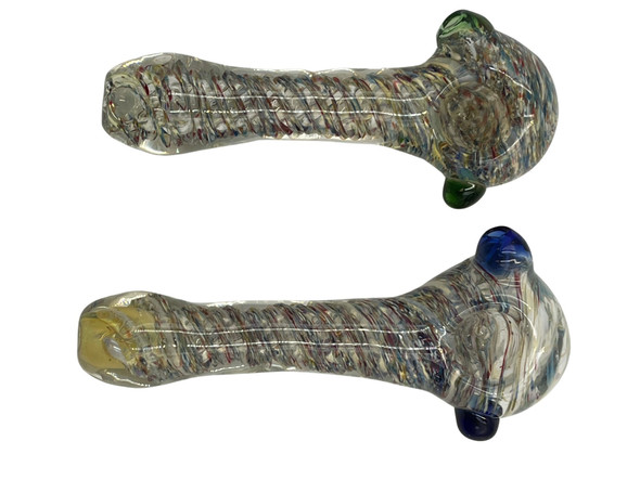 """5"""" Mix Frit Twisted Art Hand Pipe (Pack of 2) [RPHAN0142] (MSRP $24.99)"""