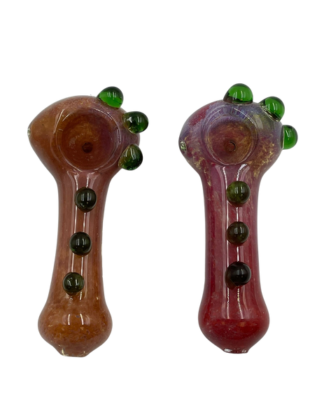 """3.5"""" Solid Frit Art Multi Marble Hand Pipe (Pack of 2) [SDK425] (MSRP $9.99)"""