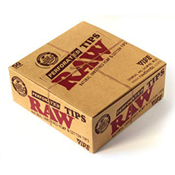 RAW - Hemp & Cotton Perforated Tips 50Ct (MSRP $29.99)