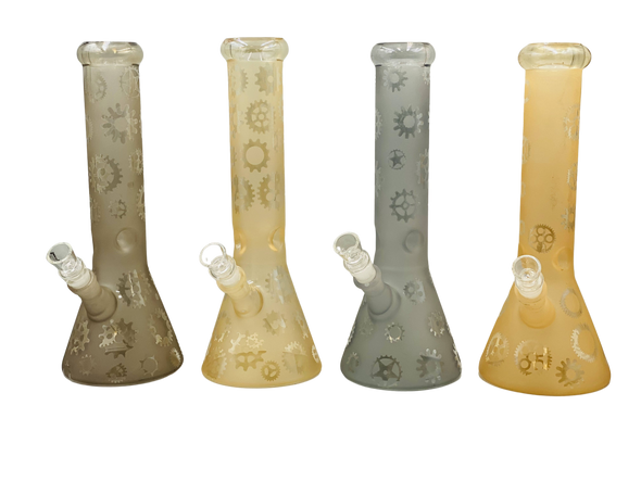 """12""""Frosted Design Art Water Pipe [SDK446] (MSRP $64.99)"""