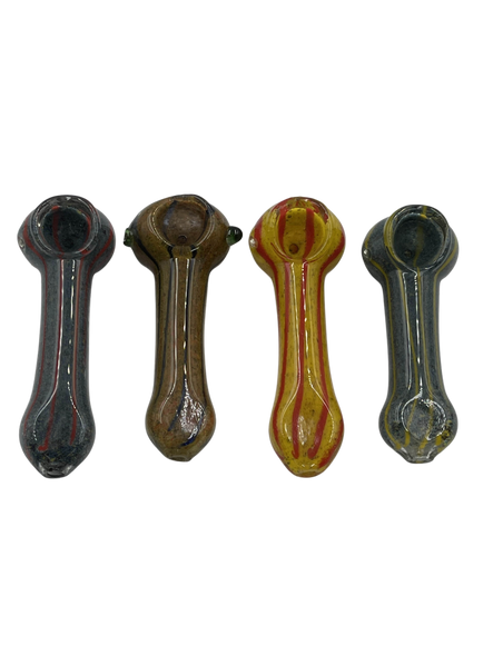 """4"""" Mix Frit & Rod Art Hand Pipe (Pack of 2) [SDK454] (MSRP $14.99)"""