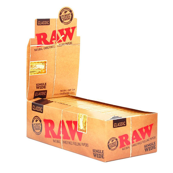 RAW - Unrefined Papers Single Window (Box of 50) (MSRP $33.99)