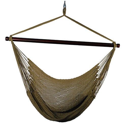 Hanging Caribbean Rope Chair Brown