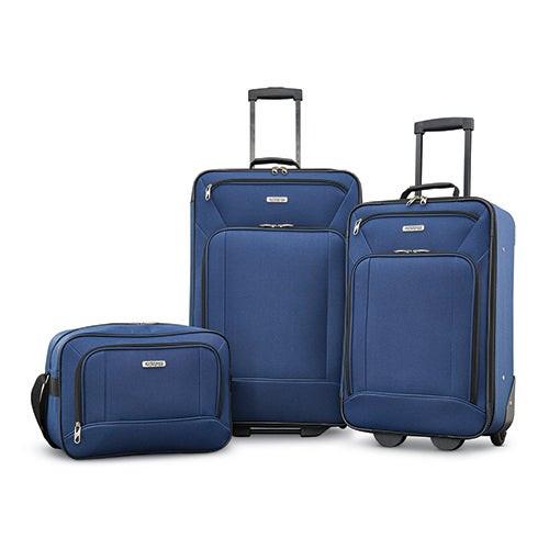 3pc Fieldbrook XLT Nested Luggage Set Navy
