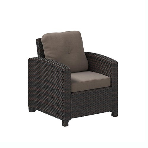 Miles Club Chair Mocha Wicker