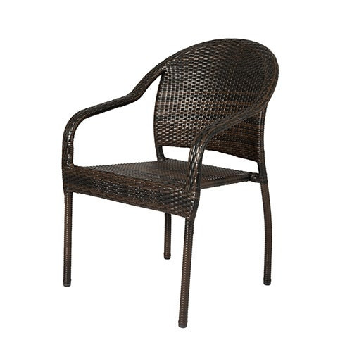 Rhodos Cafe All-Weather Wicker Stacking Chairs 4-Pack