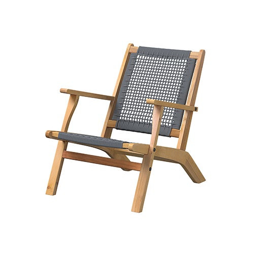 Vega Natural Stain Outdoor Chair Gray Cording