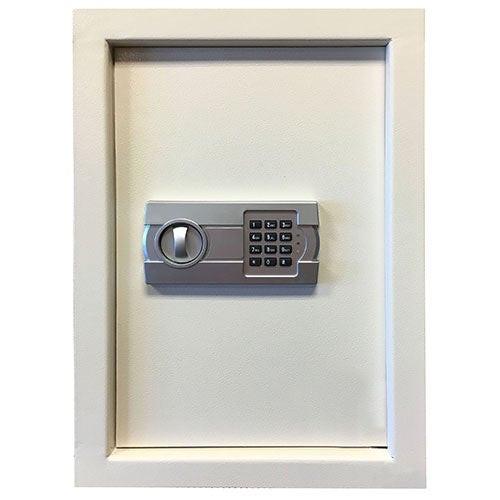Wall Safe w/ Electronic Lock Beige