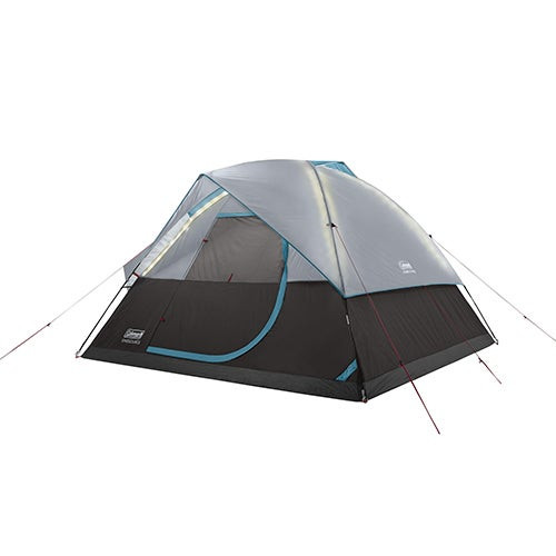 OneSource Rechargeable 6 Person Dome Tent w/ Airflow & LED