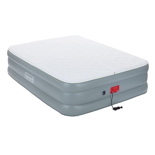 PillowStop Queen Quilted Top Double High Airbed w/ Pump
