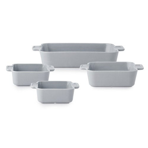 Modern Ash 4pc Stoneware Bakeware Set