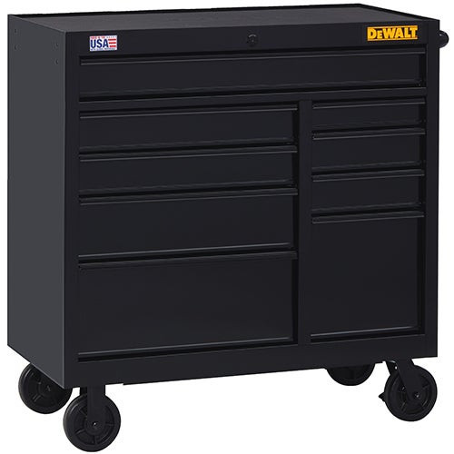 """41"""" Wide 9-Drawer Rolling Tool Cabinet"""