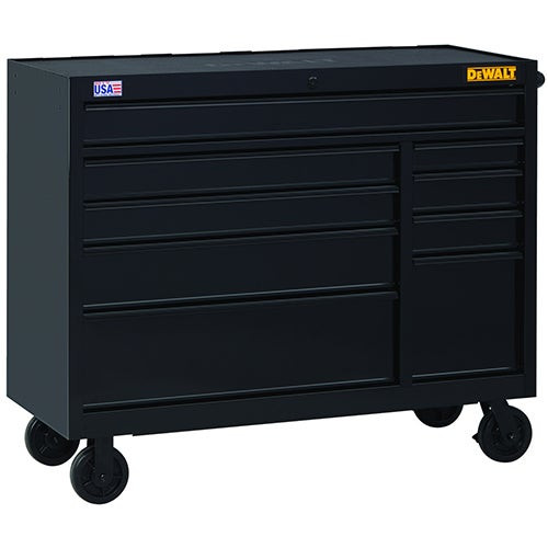 """52"""" Wide 9-Drawer Rolling Tool Cabinet"""