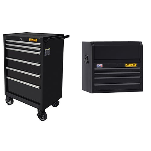 """26"""" 6-Drawer Rolling Cabinet w/ 5-Drawer Top Chest"""