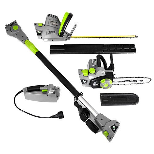 4-in-1 Multi-Tool - Pole & Handheld Hedge Trimmer/Pole & Handheld Chain Saw