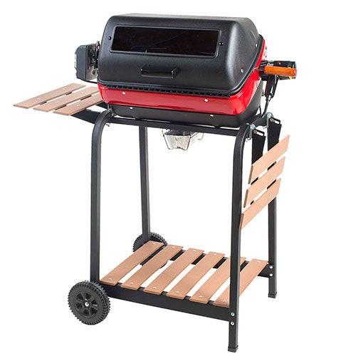 Deluxe Electric Cart w/Wood Bottom Shelf