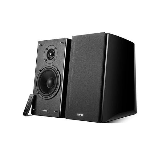 Wood Bluetooth Bookshelf Speakers Black