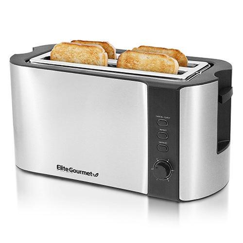 Platinum 4 Slice Long Stainless Steel Toaster