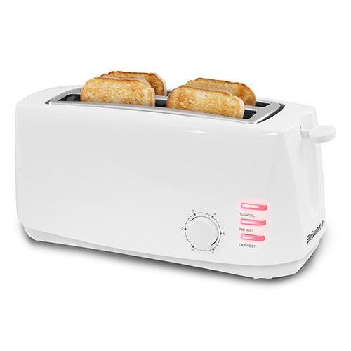 Cuisine 4 Slice Cool Long Toaster White