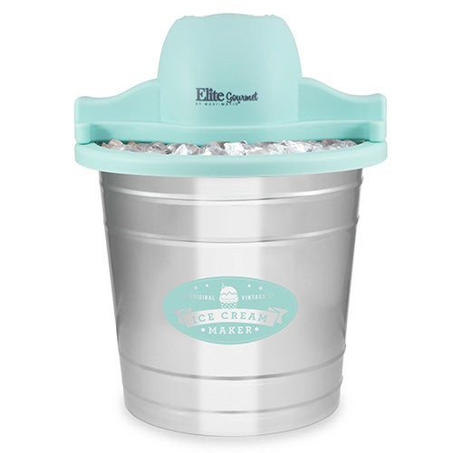 Gourmet 4qt Motorized Old-Fashioned Ice Cream Maker