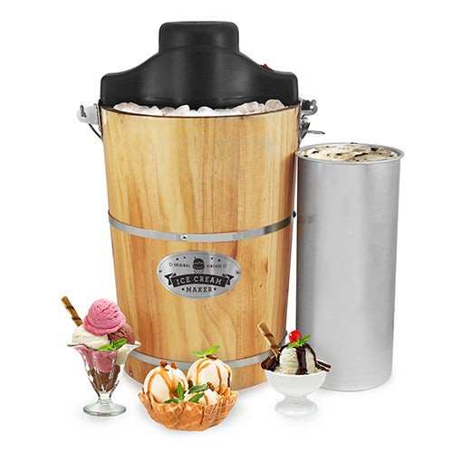 Gourmet 6qt Old-Fashioned Electric Ice Cream Maker