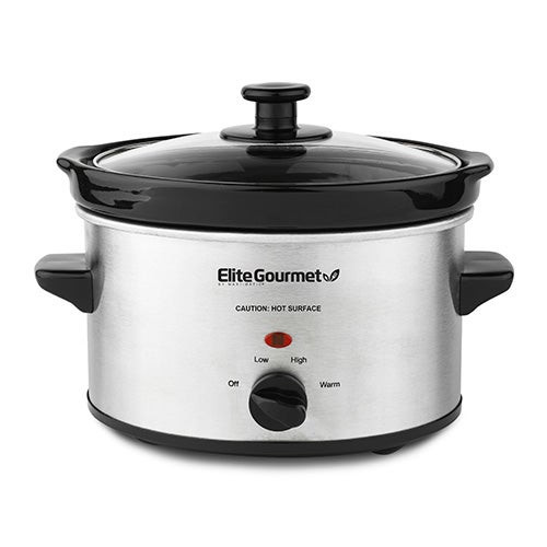 Gourmet 2qt Stainless Steel Slow Cooker