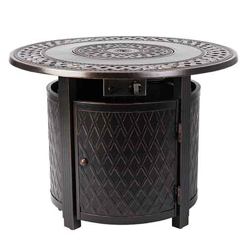 Wagner Round Aluminum LPG Fire Pit Table