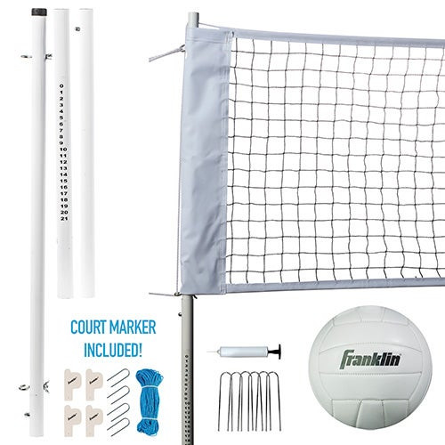 Professional Volleyball Net and Ball Set