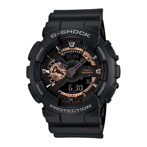 G-Shock Big Case Ana-Digi Watch Black/Rose Gold