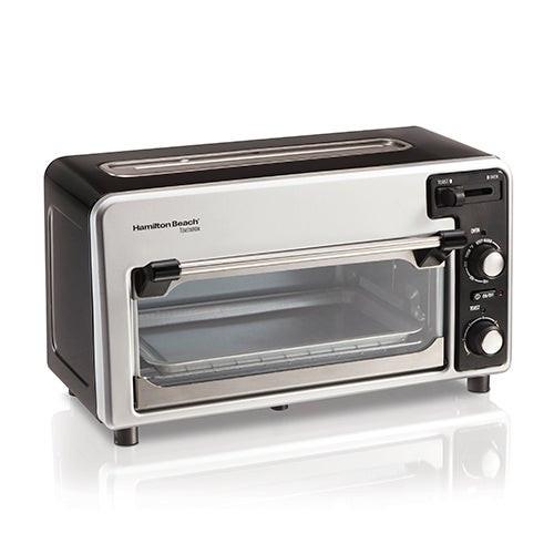 Toastation 2-in-1 Countertop Oven/2 Slice Toaster Black