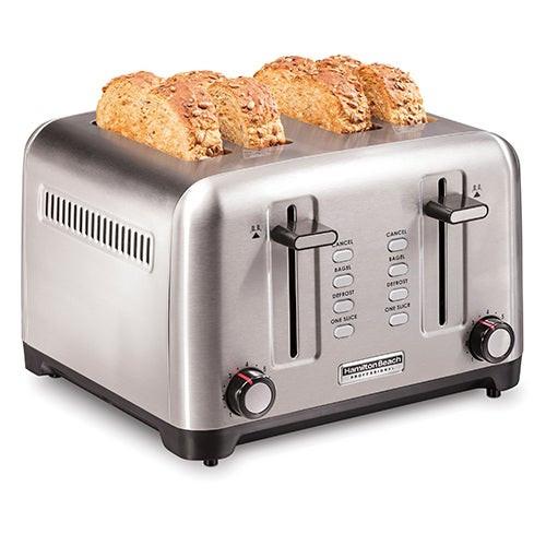 Sure-Toast Professional 4 Slice Toaster Stainless Steel