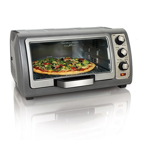 6 Slice Easy Reach Convection Toaster Oven Silver