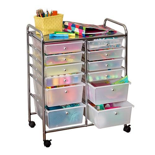 12-Drawer Rolling Storage Cart & Organizer