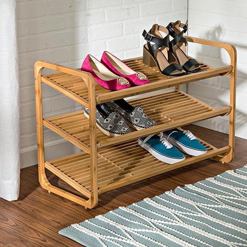 3-Shelf Bamboo Shoe Rack