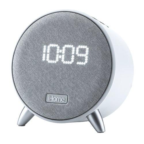 Power Clock Bluetooth Alarm Clock w/ Charging White