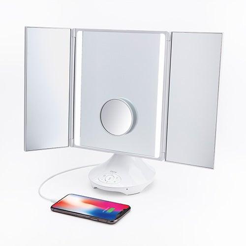 Reflect Trifold Vanity Mirror w/ BT Speaker & USB Charging