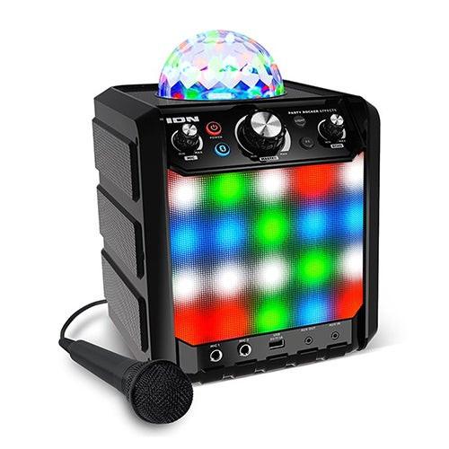 Party Rocker Effects Bluetooth Speaker w/ Light Show & Mic Black
