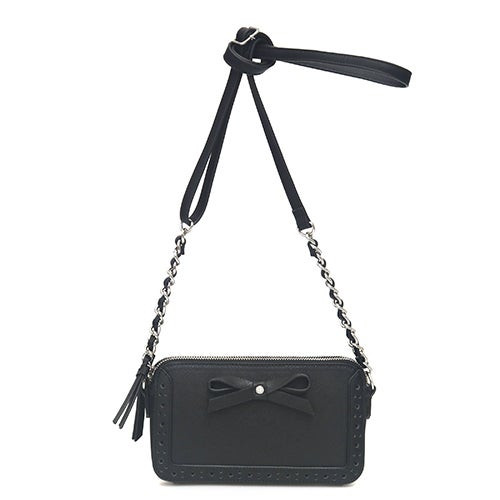 Reese Front Bow Crossbody Black