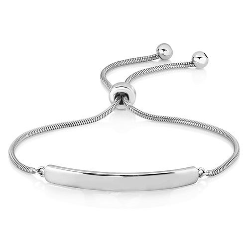 Bolo Bar Bracelet Silver