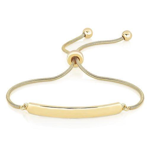 Bolo Bar Bracelet Yellow Gold