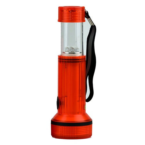 2-in-1 Extendable LED Water Resistant Lantern/Flashlight Red