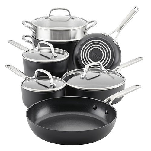 11pc Hard-Anodized Induction Cookware Set