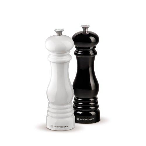 Ceramic Grinder Salt & Pepper Mill Set Black & White