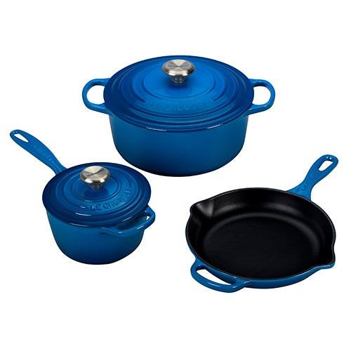 5pc Signature Cast Iron Cookware Set Marseille