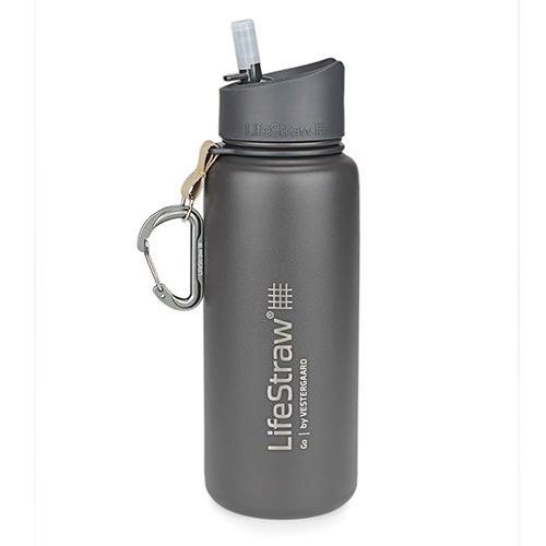 LifeStraw Go Stainless Steel Water Filter Bottle Gray