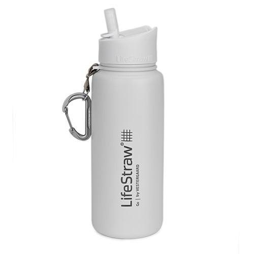 LifeStraw Go Stainless Steel Water Filter Bottle White