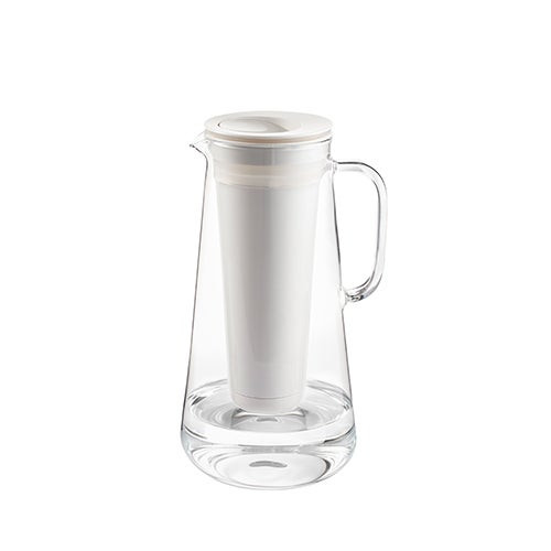 LifeStraw Home 10 Cup Plastic Water Filter Pitcher White
