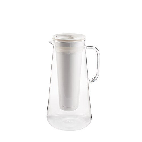 LifeStraw Home 7 Cup Glass Water Filter Pitcher White