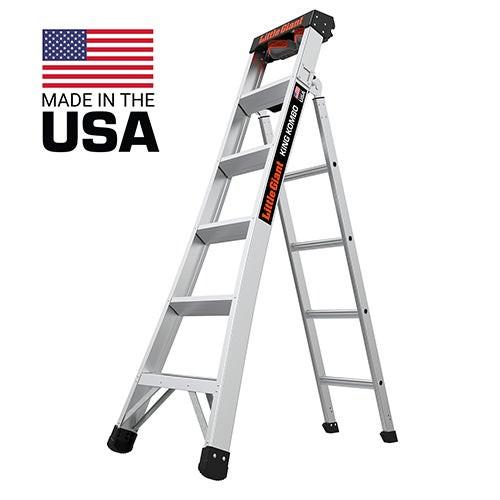 King Kombo 2.0 Pro 6ft Aluminum Ladder w/ Wall Pad