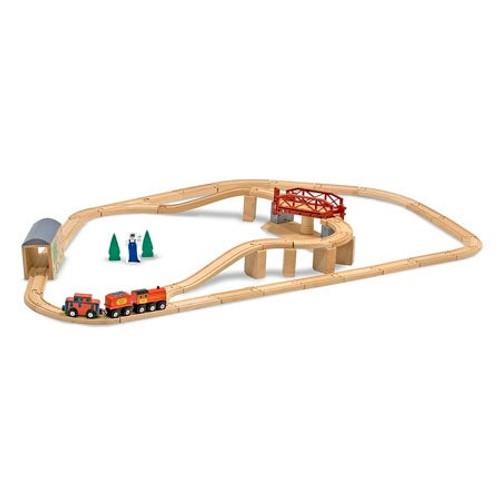 Swivel Bridge Wooden Train Set